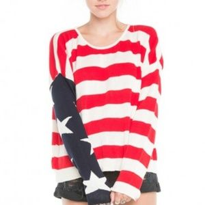 Brandy Melville Sweaters - Cassidy american flag sweater